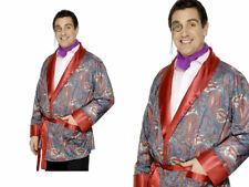 SMOKING JACKET MENS FANCY DRESS COSTUME PAISLEY OLD ENGLAND OUTFIT ONE SIZE