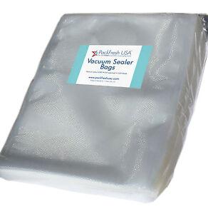 PackFreshUSA Gallon Vacuum Sealer Bags Pre-Cut BPA Free Heavy Duty - 100 Pcs