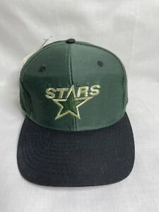 Vintage Dallas Stars Snap-Back Hat - Green - Logo Athletics - Onesize