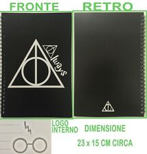 QUADERNO HARRY POTTER E I DONI DELLA MORTE ALWAYS SEVERUS PITON NOTEBOOK AGENDA