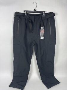 Free Soldier Men'S Outdoor Softshell Fleece Lined Cargo Pants Snow Ski Hiking Pa