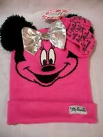 Disney Minnie Mouse Girls Toddlers/Infant Pink BEANIE & MITTEN/GLOVES Set NWT