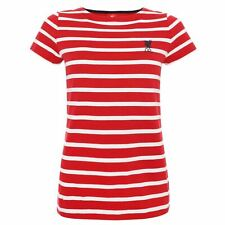 Liverpool FC Womens Red and White Stripe T-Shirt LFC Official
