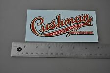 New Cushman LINCOLN. NEBR. Water Slide DECAL Fox Grips #76