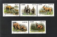 ZAIRE (1993/4) - LOT OF 5V - COB 1452/56 (**MNH) - 50 ANS PARC DE LA GARAMBA -