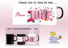 taza taza mágica magik taza negro - blanco love personalizado ref 12