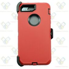 iPhone 8 Defender Red Black Case Cover w/[Clip Fits Otterbox]&Screen Protector
