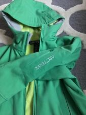 Arcteryx Hyllus Hooded Softshell Jacket Green Womens Size XS
