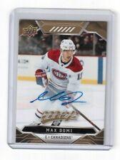 2019-20 Upper Deck MVP Autographs Card # 219 Max Domi Montreal Canadiens 1:1725