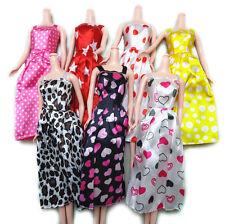 7 Pcs Handmade Fashion Dress for s Printed Doll Dress Baby Birthday R15