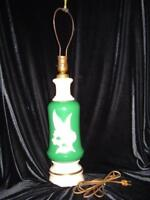 Antique Alacite Aladdin ElectricTable Lamp, Lily of the Valley Design, No Shade