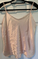 Vanity Fair Adjustable Strap Satin Camisole Sissy Cami Peach Blush - Size 36