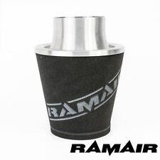 Ramair Filtre à air universel 60 mm od Cou Aluminium Admission Silver