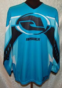 Answer Racing Syncron Jersey Shirt S / M Blue Motocross Motorcycle Mens