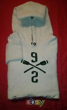 Abercrombie & Fitch 92 HEATHER GRAY Mens BOATING paddle LOGO Hoodie Sz S GREAT !