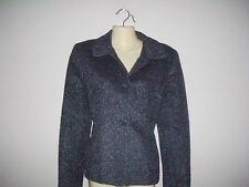 Jones New York Womens Size 8 Solid Gray Sparkly Pea Coat
