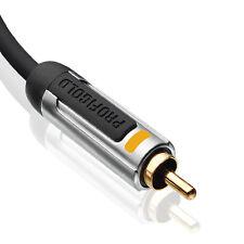 Profigold PROA4802 2m Coaxial Cable Audio Lead Multi Screened 24k Gold Plated