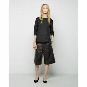 Girls Black Leather Shorts Lambskin Evening Party Wear Bermuda Sexy Pants WS15