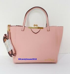 NWT Marc Jacobs The Kiss Lock Mini Leather Tote ~ Bloom Pink ~ M0016159