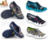 BEFADO boys canvas shoes nursery slippers trainers NEW size 8 - 12 UK Toddler