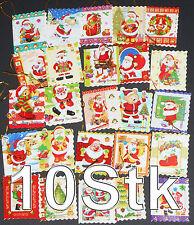 10 Geschenkanhänger Weihnachten, mit Glitter & Wellenrand, Anhänger,gift tag,NEU