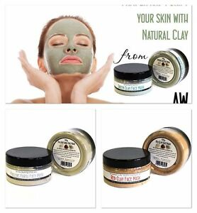 NATURAL CLAY FACE MASK 100gr - 100% NATURAL - SELECT SKIN TYPE
