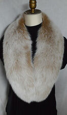 Real Blush Fox Fur Collar Detachable Snow Top New made in the USA genuine