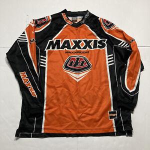 TLD TROY LEE DESIGNS Orange/Gray MOTOCROSS JERSEY Bike Race Shirt Men's Medium