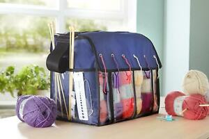 Portable Knitting Tote Bag Wool Crochet Storage Bags Sewing Needles Organizer