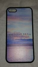 """Beach Sunset """"What Doesn't Kill You""""  iPhone 5c Novelty Plastic Snap On Case"""