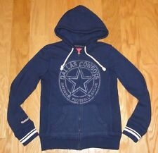 Mitchell & Ness Dallas Cowboys Zip Up Hoodie Size S Blue Women's