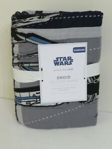 POTTERY BARN KIDS STAR WARS DROID QUILTED STANDARD PILLOW SHAM NEW