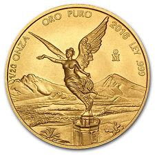 2016 1/20 oz Gold Mexican Libertad Coin Brilliant Uncirculated BU