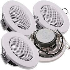 4x CS50 weiß - Lautsprecher Einbaulautsprecher im Halogen Decken Strahler Style