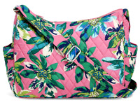 Vera Bradley ON THE GO Crossbody Purse Bag Handbag Hobo Tropical Paradise - $98