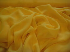 """Sun Yellow Solid Plain 100% Polyester Chiffon Fabric 58"""" Wide By The Yard"""