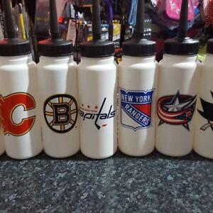 NHL Ice Hockey Water Bottle Long Spout 1litre Sports Bottle
