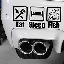 Eat Sleep Fish signo para el ajuste cazador Avid Carp Fox caja de los Trastos Pesca De Carpa