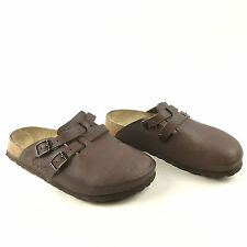 Birki's Birkenstock Camden Brown Leather 2 Strap Closed Toe Sandals Clogs Sz. L5