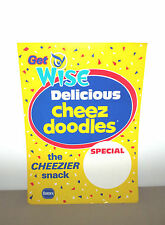 WISE CHEEZ DOODLES THE CHEEZIER SNACK BORDEN STORE DISPLAY SIGN