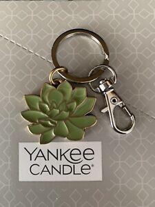 "Yankee ""Succulent"" Keyring/Handbag Charm - Charming Scents Collection - Free P&P"