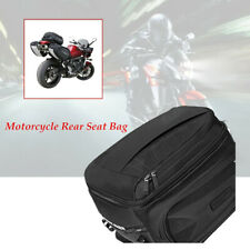 Motorcycle Rear Seat Bag Waterproof Travel Luggage Helmet Tail Case Durable