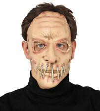 Zombie Masque Costume Robe fantaisie visage Maske Halloween Staple Horreur Masque Nouveau