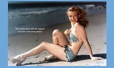 Marilyn Monroe Bikini PHOTO, Gorgeous Sexy Beach,1st Publicity Photo Shoot
