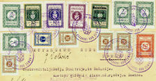1942 NDH Croatia court document stamped with revenuer and charity stamps