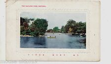 JAPAN 1916 COLOURED PPC OF PARK SAPPORO CANCELLED HAKODATE.
