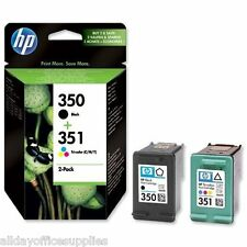 Genuine HP No 350 & 351 Black and Colour Ink Cartridges CB335EE CB337EE SD412EE