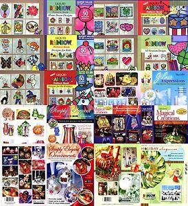 DecoArt Liquid Rainbow Window Color Pattern Books