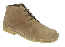 MENS SIZE 7 8 9 10 11 12 13 14 BROWN SOFT SUEDE LEATHER LACE DESERT CASUAL BOOTS