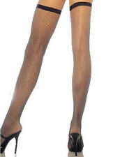 Stockings 9 Styles Hold UPS 3 Styles Sheer Fishnet Lace Bow Seamed Nylons 8 Black Fishnet With Black Elastic Tops 6 - 16 Onesize